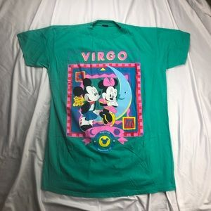 Vintage Minnie and Mickey Mouse Disney Virgo Tee